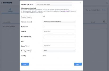 Update payment method - edit details