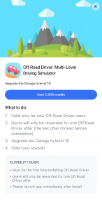 Offerwall intermediate page with rich media