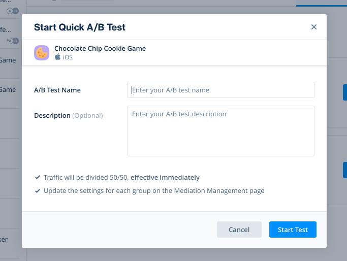 Start Quick A/B Test