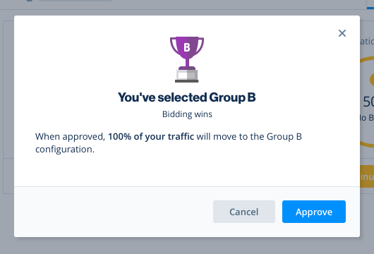 You've selected Group B