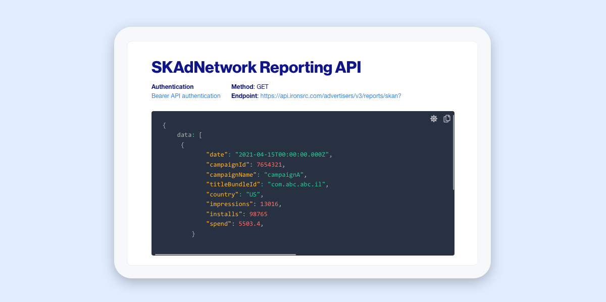 SKAdNetwork Reporting API